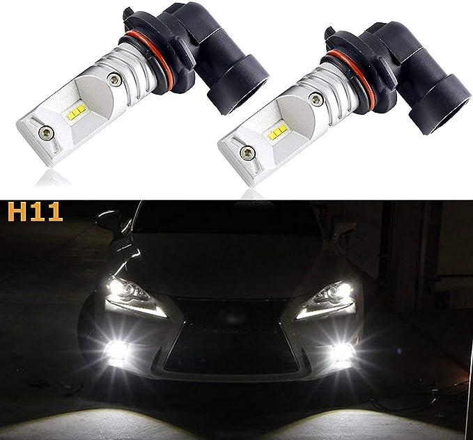 Chevrolet Captiva 100w Super White Xenon HID Low//LED Trade Side Light Bulbs Set