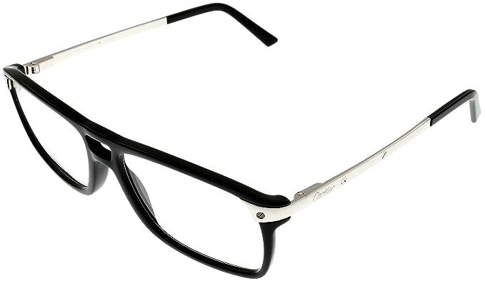 09a2ffd1cb Image Unavailable. Image not available for. Colour  Cartier SANTOS Prescription  Eyeglasses Framees Frame Aviator Mens Black T8101221