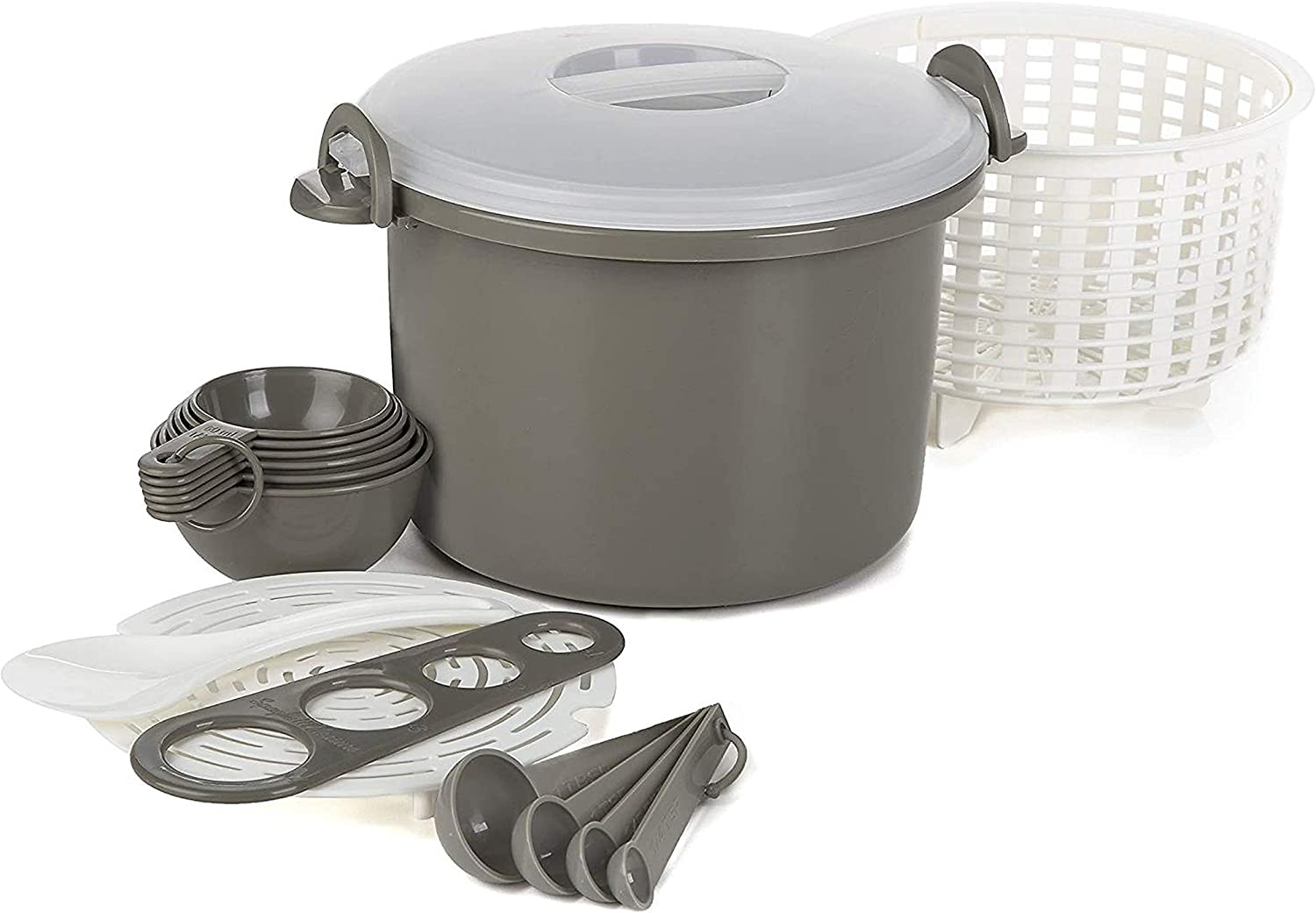 Progressive PS-97GY Microwave Rice & Pasta Cooker Set - 17 Piece