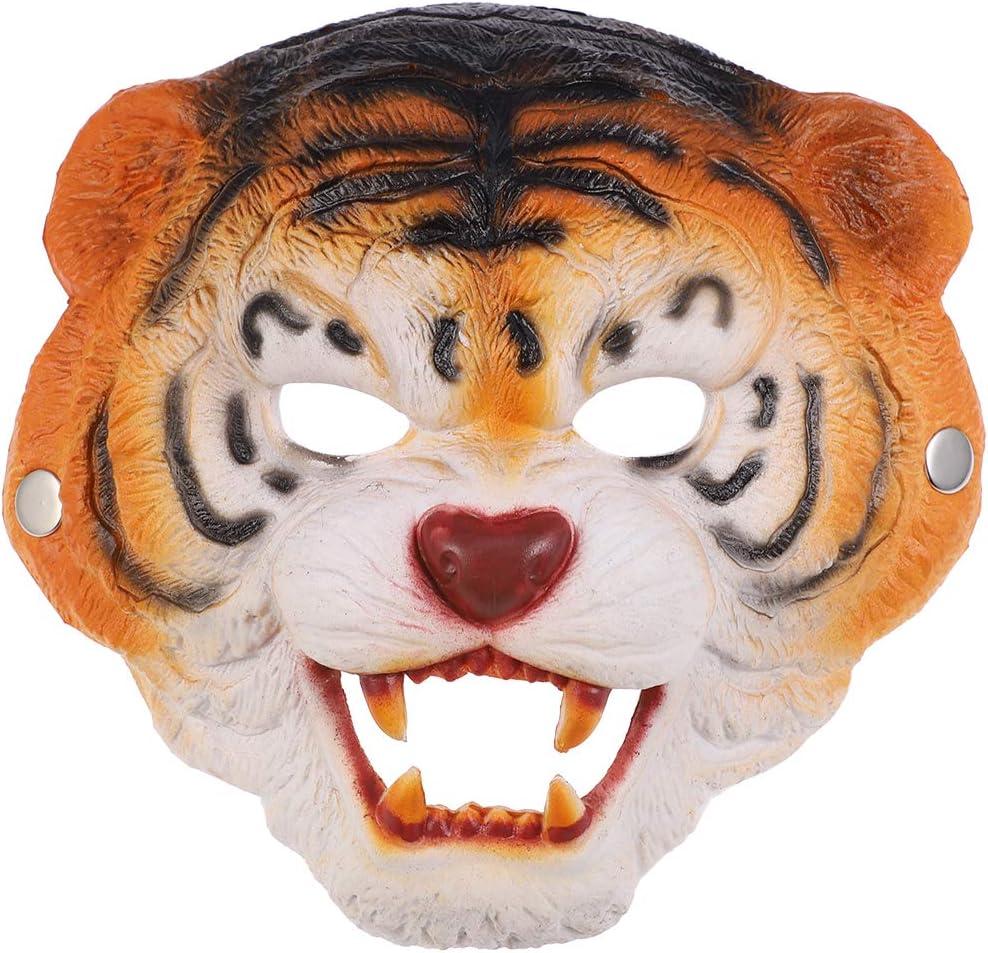 Amosfun Máscara de Tigre de Halloween Mascarada Fiesta de ...