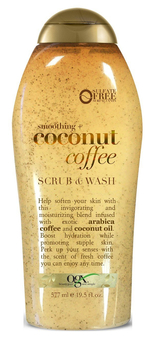 Ogx Body Scrub Coconut Coffee 19.5 Ounce (577ml) (2 Pack) by OGX