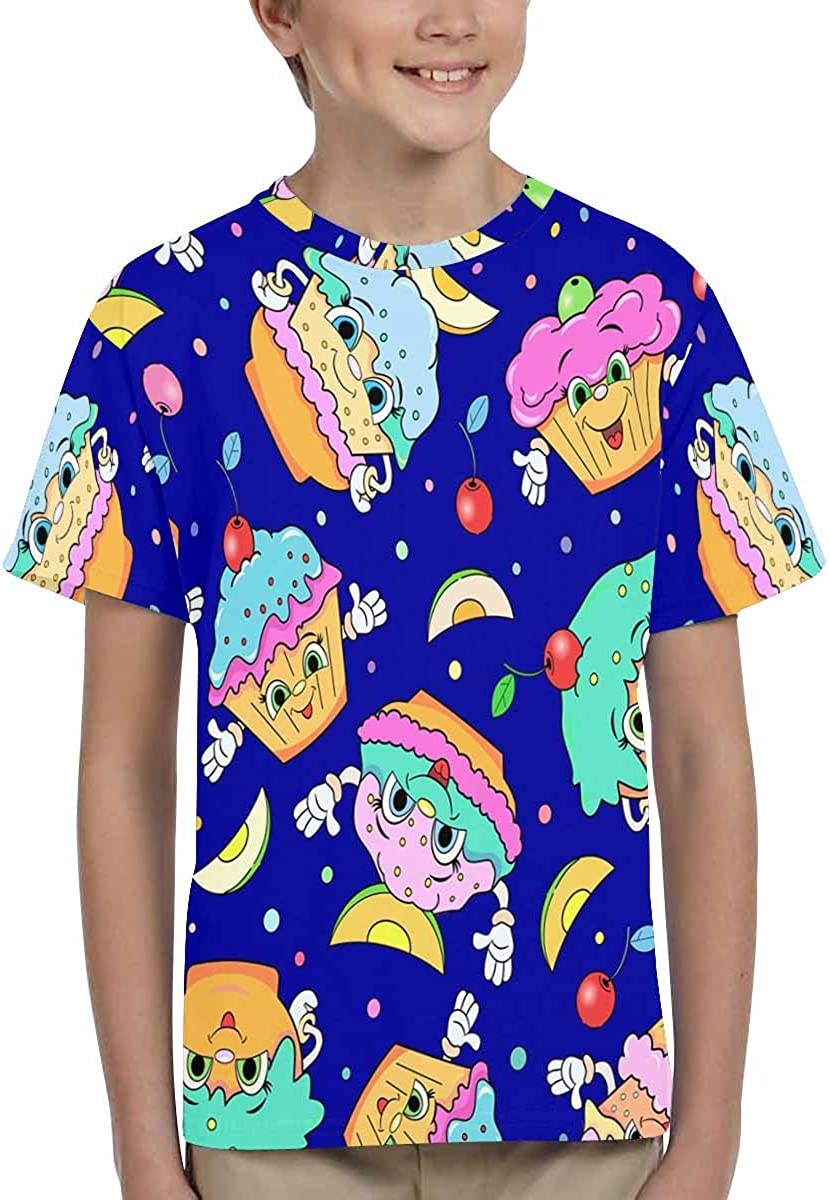 XS-XL INTERESTPRINT Childs T-Shirt Cartoon Funny Cakes