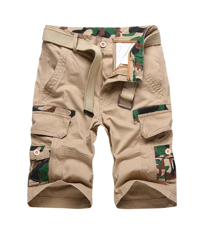 4fc4d50e33 ainr Men Summer Cargo Shorts Cotton Multiple Pockets Lightweight Shorts