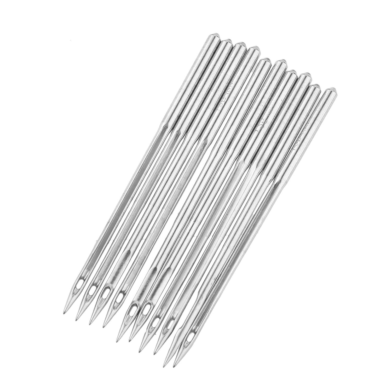 10 agujas para má quina de coser industrial DB1 para JUKI DDL-555 SINGER BROTHER Hicello