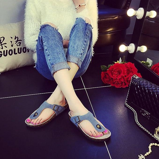 Chaussons HAIZHEN chaussures pour femmes Sandales/pantoufles de mode plage épais et antidérapants avec de nombreuses couleurs Pour femmes (Couleur : #2, taille : EU36/UK4/CN36)