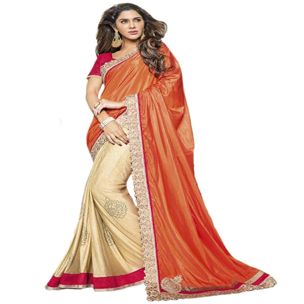 Indian Diwali Wedding Ceremony Party Wear Sari Women Saree Designer Work Original Ethnic Traditional Sexy 876