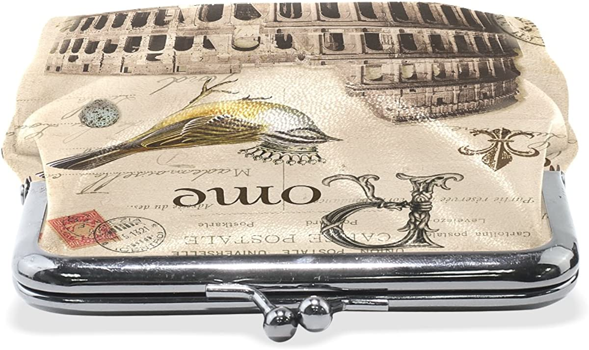 Ethel Ernest Romantic Rome Coin Wallets Mini Purse for Womens Girls