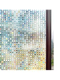 rabbitgoo 3D Window Films Privacy Film Static Decorative Film Non-Adhesive Heat Control Anti UV