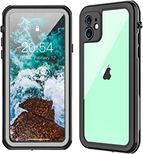 TESTGO iPhone 11 Waterproof Case, iPhone 11 Case with Built-in Screen Protector IP68 Underwater Full Body Protection Dropproof Case for iPhone 11 (6.1inch)