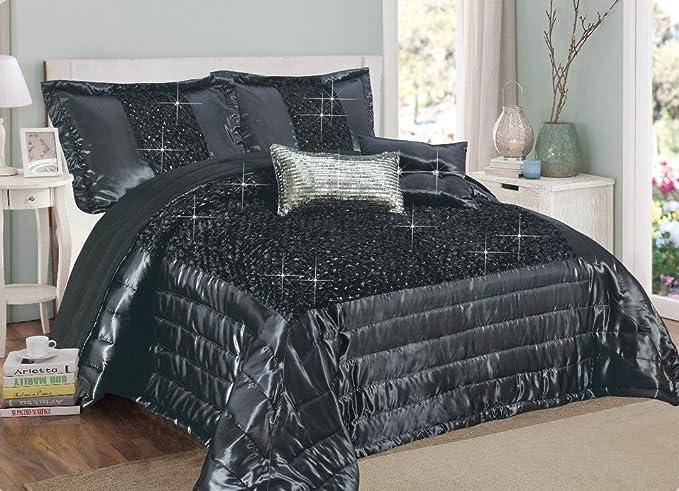 Silver Double Lot de couvre-lit//housse de couette et 2 housses de coussins Polyester design exclusif Savio