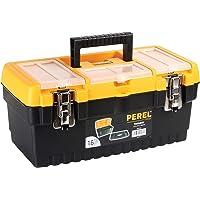 """PEREL - OM16M gereedschapskoffer met metalen sloten, 16"""" lengte 144772"""