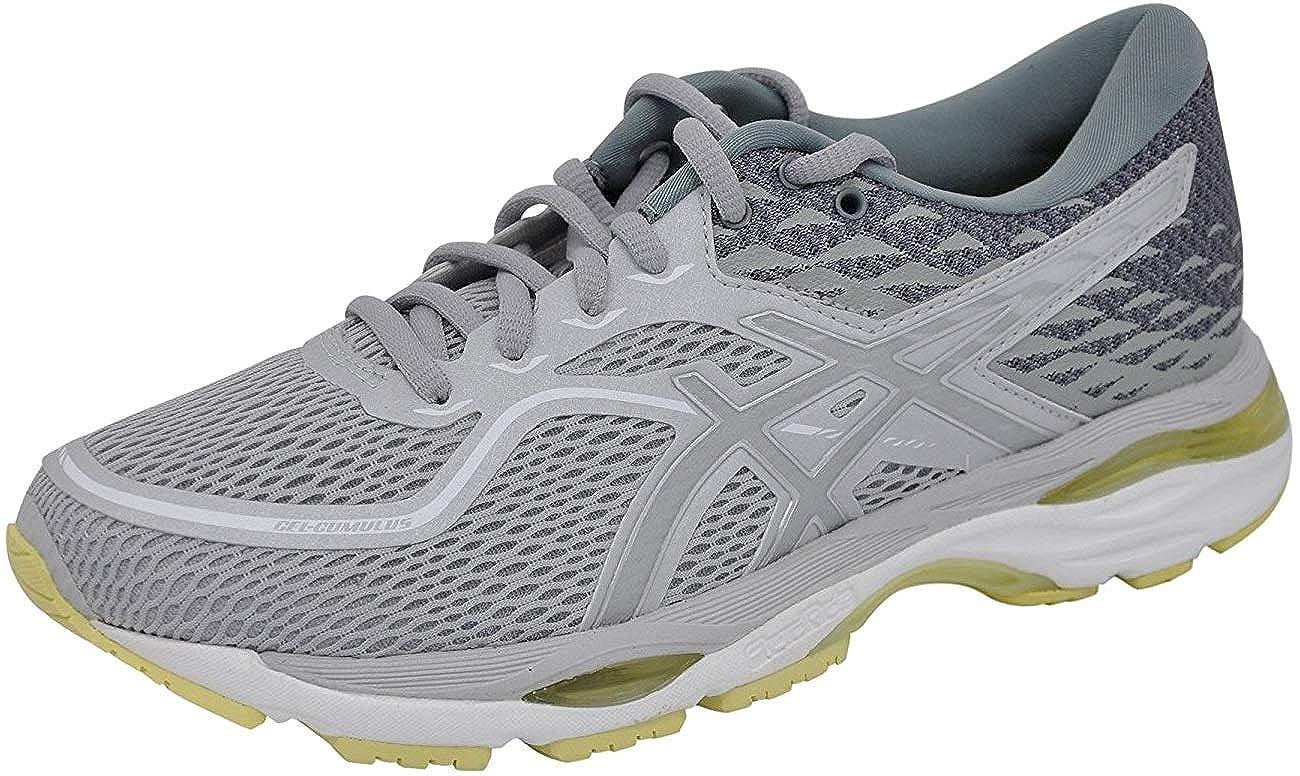 Grey Silver Lime ASICS Women's Gel-Cumulus 19 Running-shoes