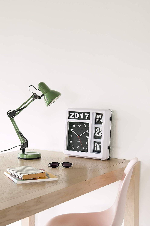 Leitmotiv Hobby Lámpara de mesa, de acero, color verde selva