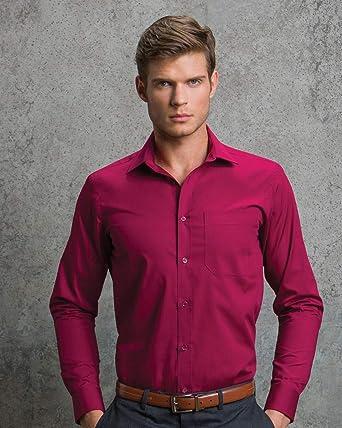 KUSTOM KIT - Camisa Formal - para Hombre Morado Burdeos 51 cm: Amazon.es: Ropa y accesorios