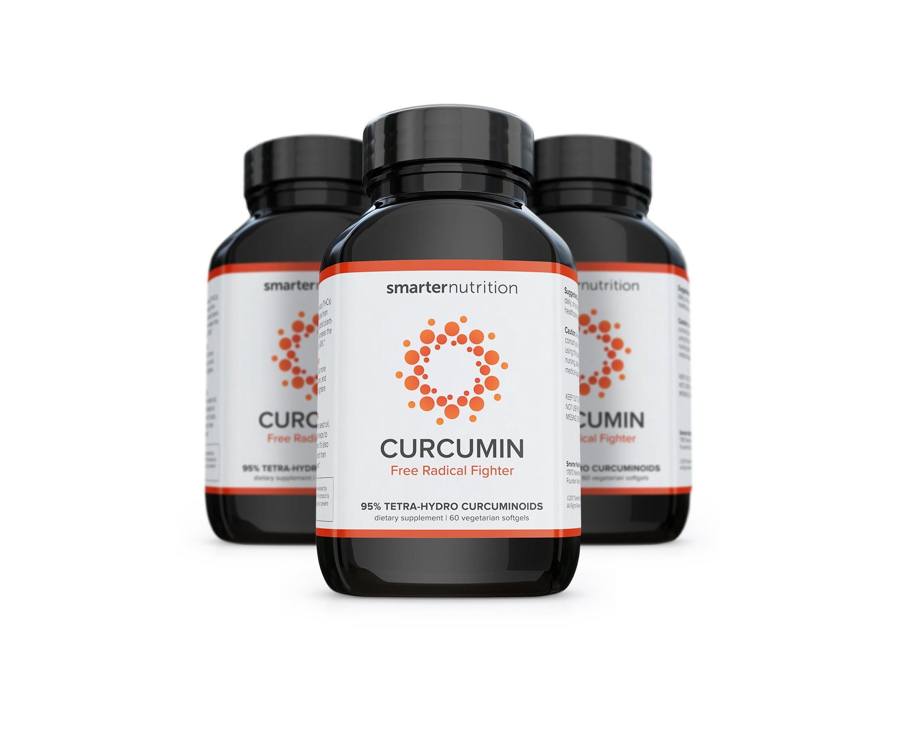 Smarter Turmeric Curcumin - Potency and Absorption in a SoftGel. The Most Active Form of Curcuminoid Found in The Turmeric Root (3 Month Supply)