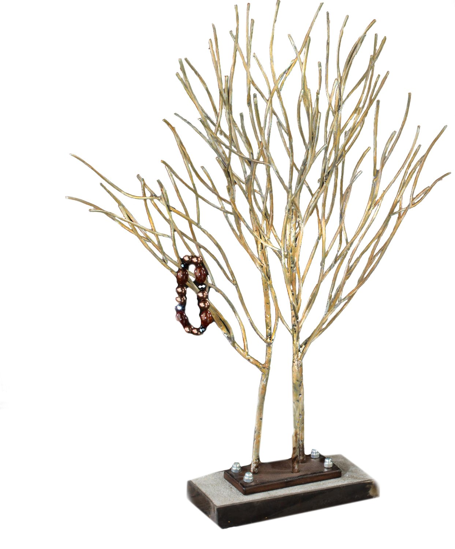 Jewelry Willow Tree Display Stand, Metal - 24''H x 20''W x 8''D