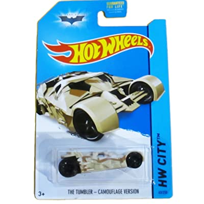Hot Wheels, 2014 HW City, Batman The Dark Knight Trilogy The Tumbler [Camouflage]: Toys & Games