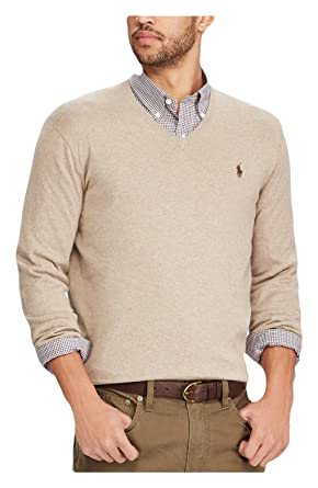 556c1b5132 RALPH LAUREN Polo Men's Cotton V-Neck Long Sleeve Pullover Sweater ...