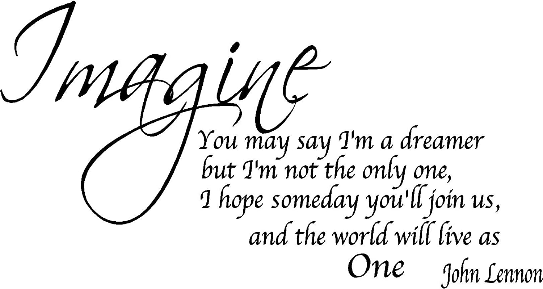 Amazon Quote It Imagine Removable Wall Quote John Lennon