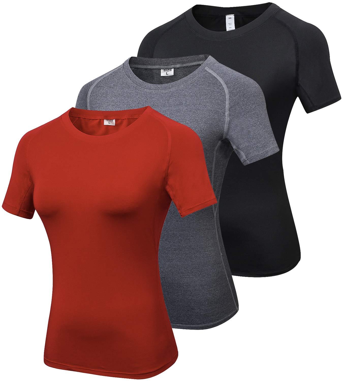 【ファッション通販】 laventoレディースCool Dry圧縮ベースレイヤークルーネック半袖Running Shirts Black/Gray/Red Pack-2013 X-Large|3 w2501 B07B49V9SN 3 Pack-2013 Black/Gray/Red X-Large X-Large|3 Pack-2013 Black/Gray/Red, 確かなモノ探しと銘酒トレイル:9c140a99 --- ballyshannonshow.com