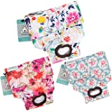 CuteBone Dog Diapers Female Reusable 3 Pack for Doggie in Heat, Washable Dog Pants