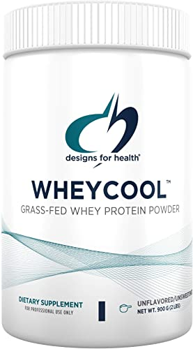 Designs for Health WheyCool – Unflavored Unsweetened Grass Fed Protein Powder with 23g Whey Protein 30 Servings 900g