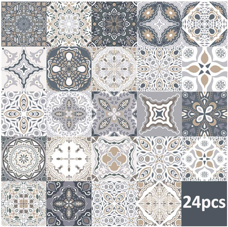 """24 piezas pegatinas de azulejos de pared calcoman/ías de azulejos para cocina sala de estar ba/ño decoraci/ón para el hogar autoadhesivo 10 * 10CM//3.9/""""*3.9/"""""""