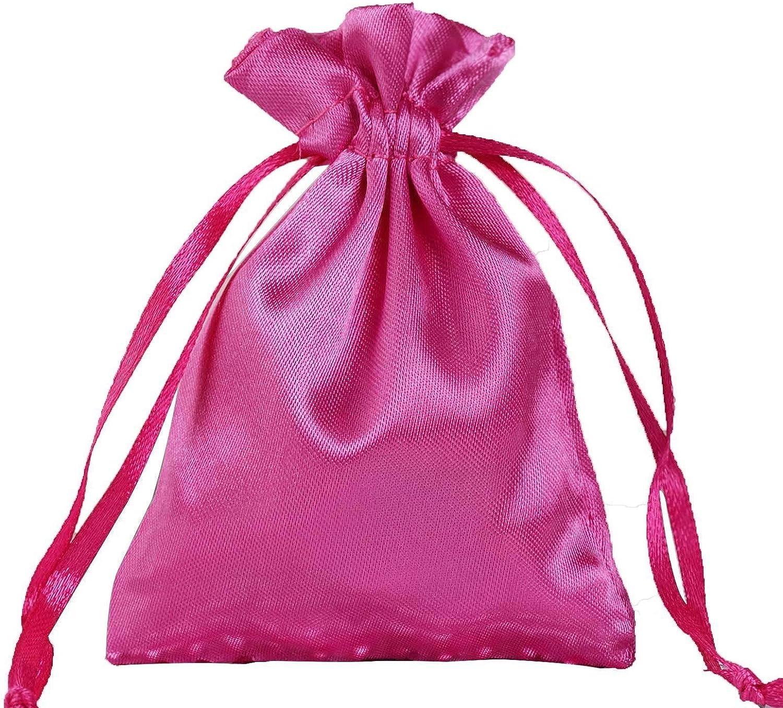 "12 pcs 4x6/"" Fuchsia SATIN FAVOR BAGS Wedding Party Reception Gift Favors"