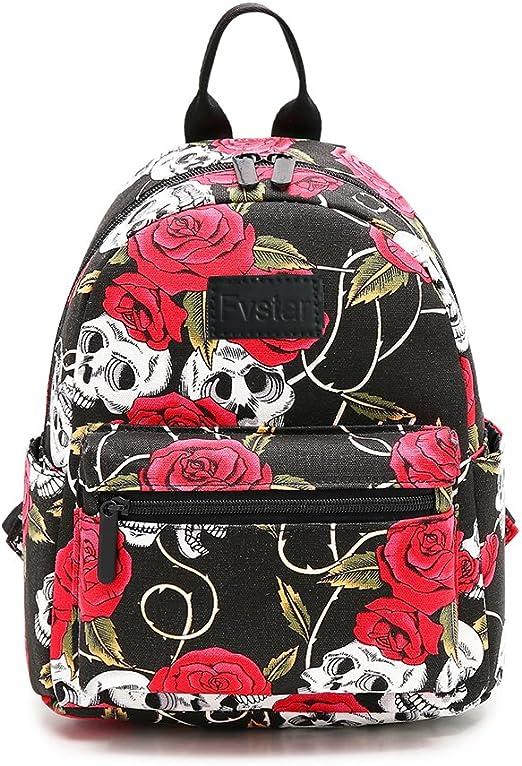 Mochila con diseño floral para adolescentes