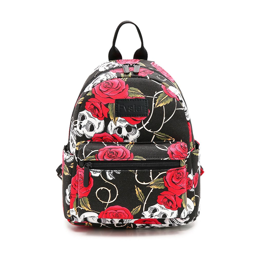 Fvstar Cute Teen Girls Canvas Backpack Mini School Bag Purse Daypack Pocketbooks for Kids and Adults
