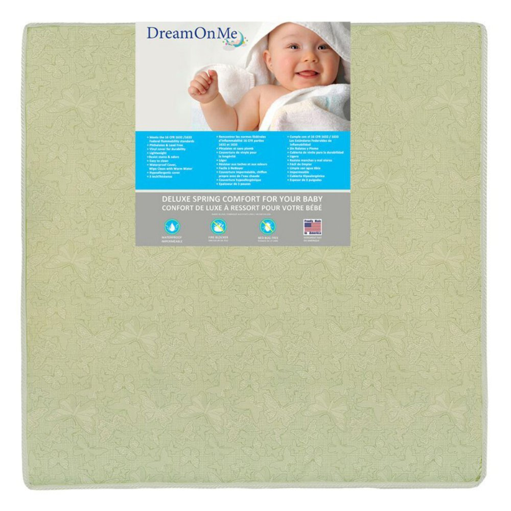 Dream on Me Play Yard Inner Spring Mattress, Soothe Me Softly 36I