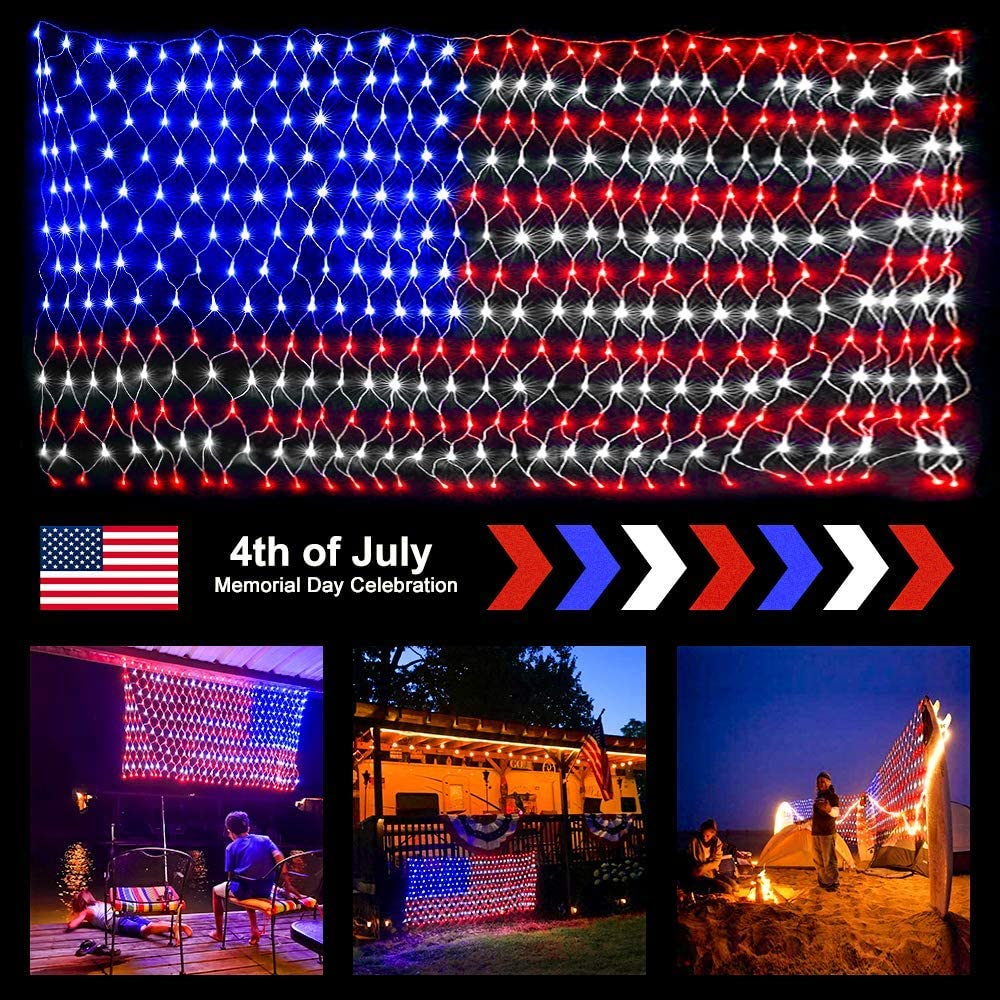 how to decorate with icicle lights.htm amazon com ollny american flag net lights 6 5ft x 3 3ft 390 leds  ollny american flag net lights 6 5ft x