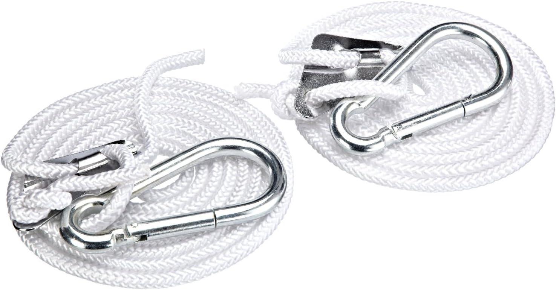 Kronenburg Handel Hakenset f/ür H/ängematten Silber 4 teilig Belastbarkeit bis 300 kg