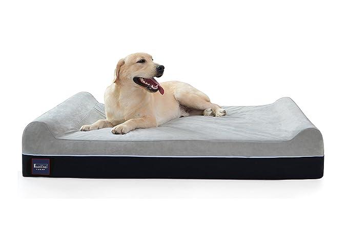 3 opinioni per LaiFug Extra Large Memory Foam Pet/Letto per cani, 128ⅹ92ⅹ24, cioccolato, con