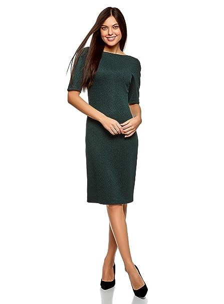 0716512da1d oodji Collection Mujer Vestido con Escote Barco: Amazon.es: Ropa y  accesorios
