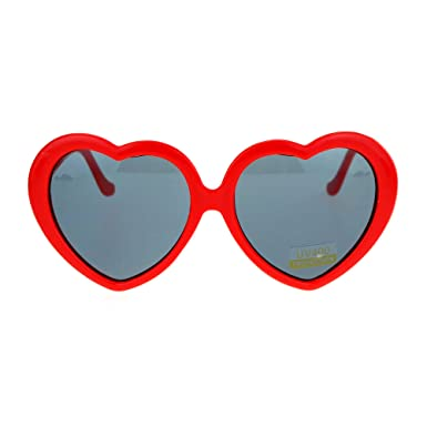 womens red sunglasses  Amazon.com: SA106 Red Plastic Heart Shape Cute Womens Sunglasses ...