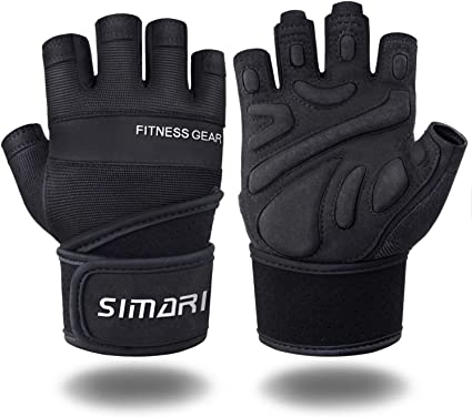 One Nice Women Men Gloves Fitness Workout Solid Color Thicken Gloves Weight Lifting Sport Gloves