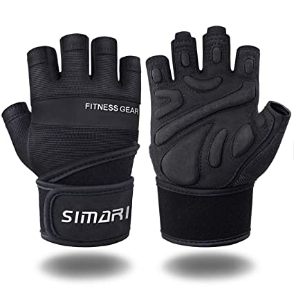 0dde3db7 SIMARI Workout Gloves for Women Men,Training Gloves with Wrist Support for  Fitness Exercise Weight Lifting Gym Crossfit,Made of Microfiber and Lycra  SMRG902