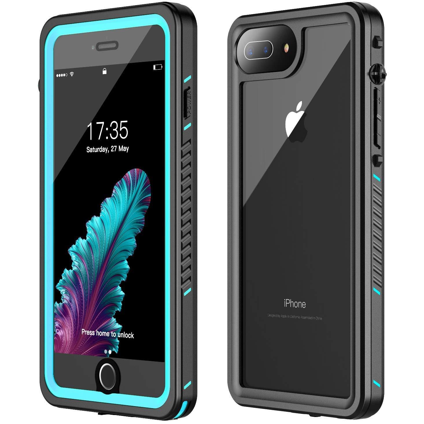 newest 683f6 0787f iPhone 7 Plus Waterproof Case,iPhone 8 Plus Waterproof Case. GOLDJU 2019  Full Body Protective IP68 Underwater Shockproof Dirtproof Sandproof ...