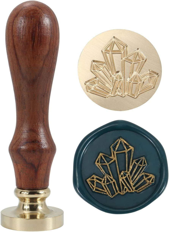 Crystal moon diamond moon  wax Seal Stamp-party wax seal stamp-wedding Wax seal stamp Gift