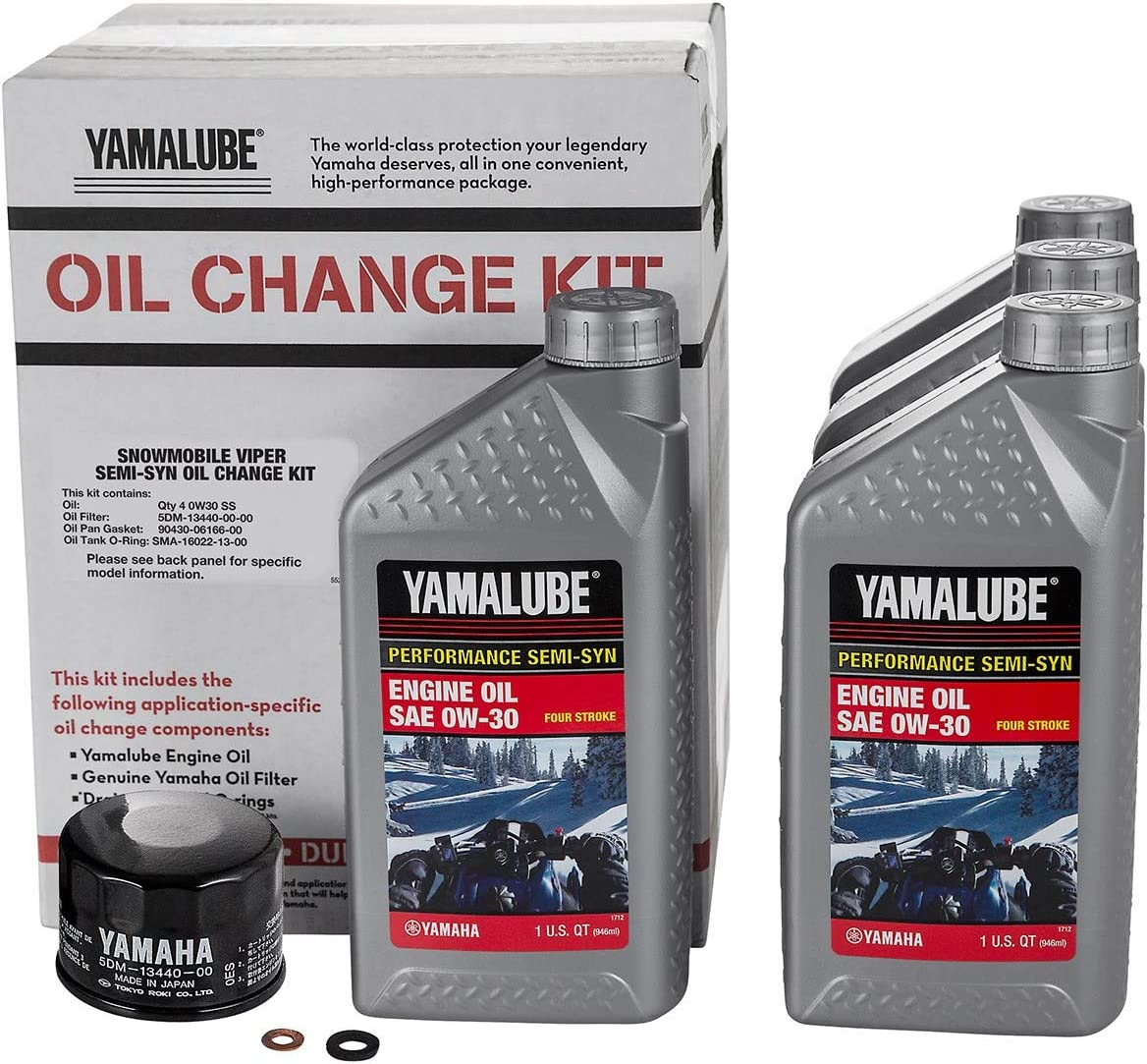 Yamaha Sidewinder/SR Viper Semi-Synthetic Oil Change Kit - LUB-SMBCG-KT-20