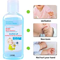 Flyalone100ML Instant Hand Sanitizer Gel for Kids, 3.5 Ounce Travel Size, Bulk Supply - Rinse Free, Waterless - Lasting Protection, Effective Kills 99.99% of Germs, Bacteriostatic Gel Hand Wash Gel