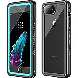 iPhone 7 Plus Waterproof Case,iPhone 8 Plus Waterproof Case. GOLDJU 2019 Full Body Protective IP68 Underwater Shockproof Dirt
