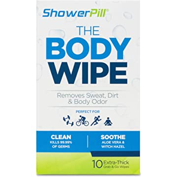 cheap Shower Pill Body Cleaning Wipes with Special Cleansing Solution – Mens Shower Wipes – Special Cleansing Cloths – Camping Wipes for Bathing – 30 Seconds Clean with Body Gym Wipes 2020