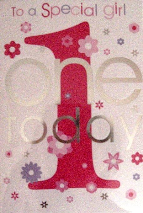 1st - Tarjeta de cumpleaños uno hoy - para una chica ...