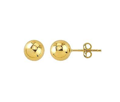 Durchsuchen Sie die neuesten Kollektionen Top Qualität 2019 professionell Echt Gold Damen Perlen Ohrringe Kugel Rund Stecker ...
