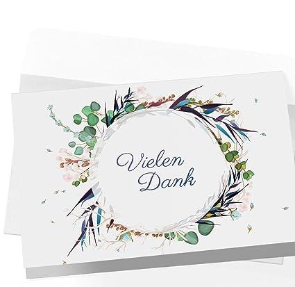 20 Dankeskarten Klappkarten Mit Umschlägen Dankeskarte Postkarte Danke Karte Danke Dankeschön Karten Danksagungskarten Hochzeit Karte Abschied