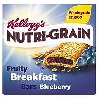 Kellogg's Nutri-Grain Fruity Breakfast Bars Blueberry, 6x37g Bars