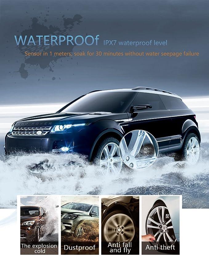 Car Rover Auto Reifendruckkontrollsystem Reifendruckmesser Mit 4 Außerliche Sensoren Lcd Display Und Usb Ausgang Einstellbarer Alarm über Reifendruck Und Reifentemperatur Auto