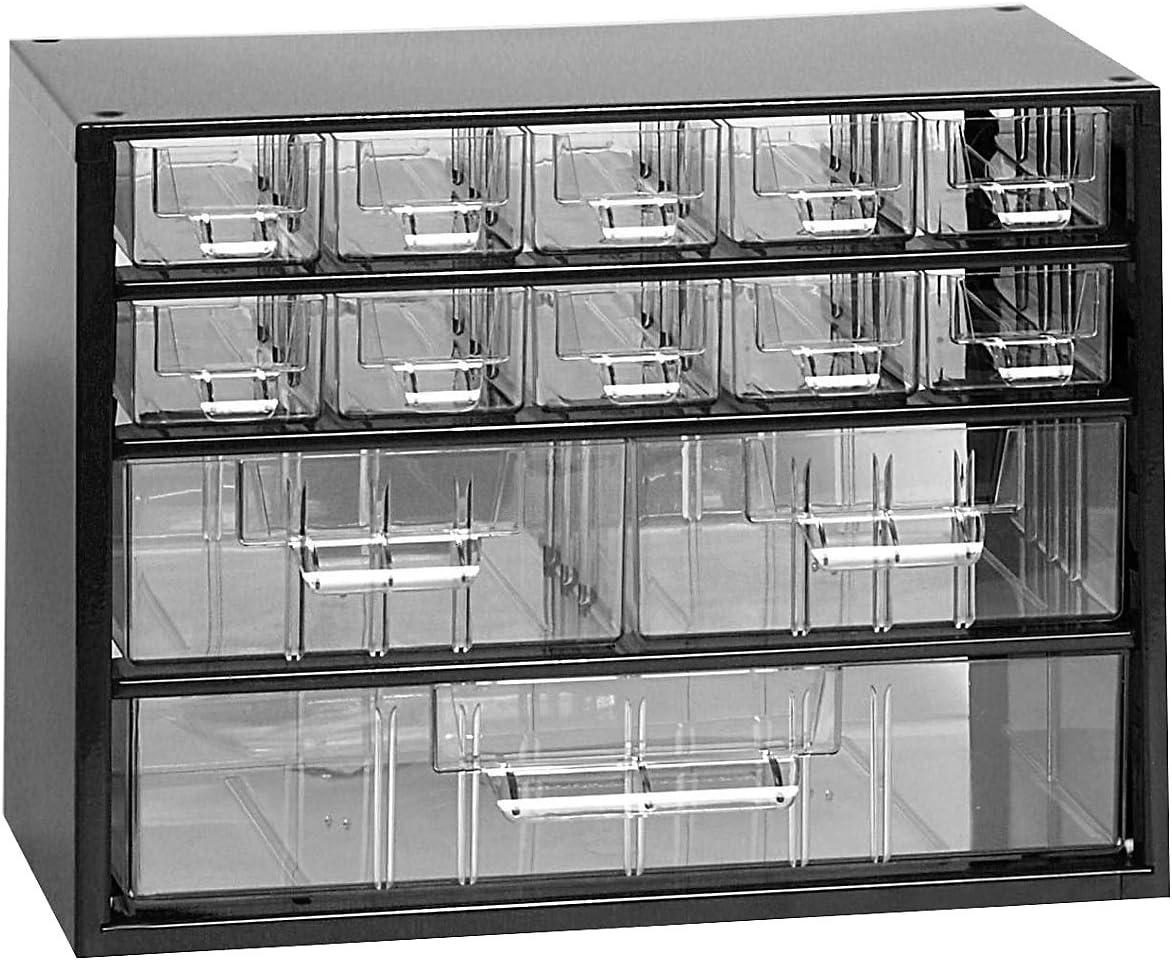 Traglast 25 kg 238 x 306 x 155 mm matte Schubladen HxBxT Geh/äuse lichtblau Kleinteilemagazin Klarsichtmagazin Certeo Schubladenmagazin aus Stahl 3 Gr/ö/ßen 13 transparente